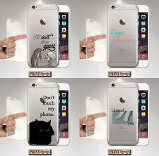 Cover per,Iphone,GATTO,silicone,TRASPARENTE,retro,DARK,teschio,frasi,CARINO,cute