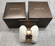 Gucci G-Gucci Rose Gold PVD Black Diamond Dial Women's Watch YA125409