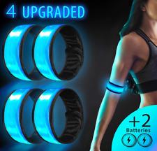 LED Slap Armband 4 Pack Flashing Reflective Led Running Safety Sports Bracelet