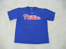 Majestic Philadelphia Phillies Shirt Adult Large Blue Chase Utley Baseball Men *