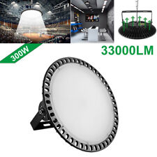1Pcs 300W Slim UFO LED High Bay Light lamp Factory Warehouse Industrial Lighting