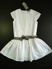 JEAN BOURGET ROBE EN BRODERIE ANGLAISE BLANC 8 ANS LITTLE COUTURE NEUF