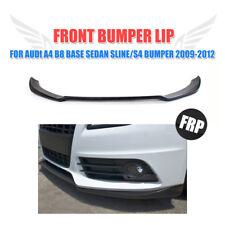 UnPainted Front Bumper Lip Chin Spoiler Fit for Audi A4 B8 Sline Bumper 09-12