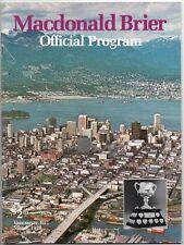 MACDONALD BRIER OFFICIAL PROGRAM Vancouver BC 1978 Curling Canada Lyall Dagg
