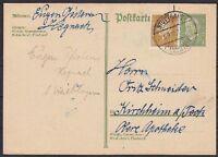 DR P 180 I Ganzsache mit ZuF, gel. Stuttgart - Kirchheim 1929, GA  Dt. Reich