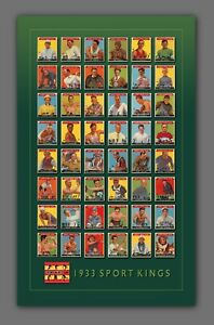1933 SPORT KINGS Art Print Poster – Complete 48-Card Set – Shipping Included