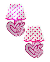 Love HEARTS LED Wall Sticker NIGHT LIGHT Bedroom Girls Gift Lamp Decoration NEW