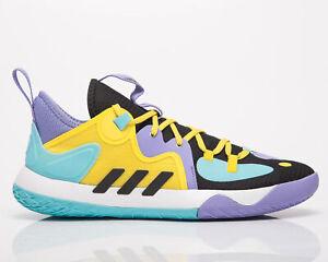 adidas Harden Stepback 2 Men's Black Purple Yellow Low Basketball Sneakers Shoes
