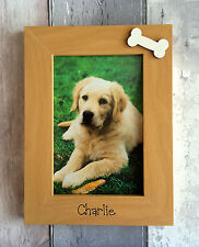 Handcrafted Personalised Pet Dog Cat Animal Photo Frame Present Gift
