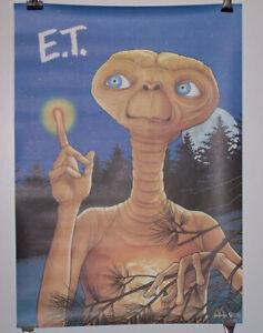 3 1985 McDonalds E.T. Alien Movie Posters Lot/Universal Studios/Amblin Entert