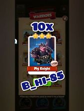 Coin Master Cards 10x Pig Knight (warriors set card)