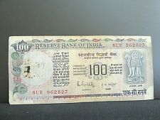 RESERVE BANK OF INDIA,100 RUPEES,OLD BANK NOTE-8 UR 962827..........