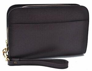 Authentic Louis Vuitton Taiga Baikal Clutch Bag Purple M30186 LV D2551