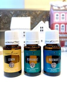 Young Living Essential Oils Lemon + Peppermint + Rosemary 15mL Brand New &Sealed