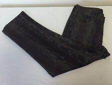 NWT Women's A New Approach Brown Snakeskin Print Skinny Ankle Jeans Pants 8P