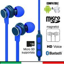 Cuffiette Auricolari bluetooth wireless cuffie sport sd iPhone Samsung Huawei