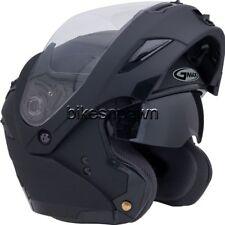 L GMax GM54S Flat Black LED Modular Motorcycle Helmet