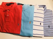 Lot Of 4  Polo Ralph Lauren Men's Polo Shirts L  Large Short Sleeve EUC