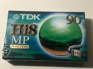 TDK video cassette Hi8 MP Position 90 New and Sealed for ALL HI8 camcorders