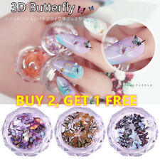 New Charm DIY Manicure Nail Art Flakes Slices Nail Sequins 3D Butterfly 12Colors