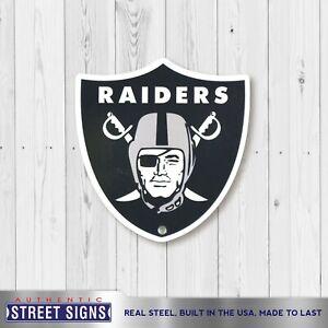 "Las Vegas Raiders Laser Cut Steel Logo Spirit Size Authentic Street Signs 12"""