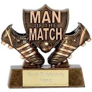 Mini MOTM football Trophy Award 8cm FREE Engraving up to 45 letters A873
