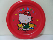 SANRIO--HELLO KITTY- RED PLASTIC PLATE-JAPAN
