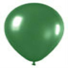 12 Metallic Green Latex Balloons Helium Grade 11""