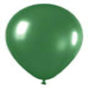 "12 METALLIC GREEN LATEX BALLOONS HELIUM GRADE 11"""