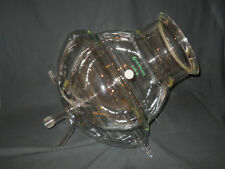 Chemglass 22L Jacketed Spherical Reaction Vessel w/ Drain & O-Ring Groove