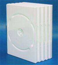 25 PK. WHITE DVD CASES w/ clear front slip cover