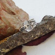 Herkimer Diamant, Blüte, nostalgisch, Ring, Ø 18,25 mm, 925 Sterling Silber, neu