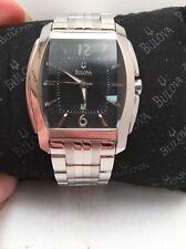 Bulova Quartz Mens Stainless Bracelet Watch 96B112-HR