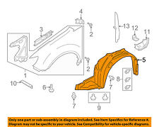 SUBARU OEM 08-14 Tribeca-Front Fender Liner Splash Shield Left 59110XA03A