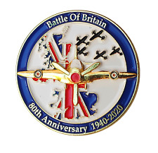 UK Battle Of Britain 80th Anniversary RAF WW Remembrance Enamel Pin Badge