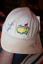 Vintage Augusta Men's golf hat Billy Casper Autograph Hall of Fame Jeff Maggert