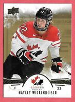 2016-17 Hayley Wickenheiser Upper Deck Team Canada Juniors Gold