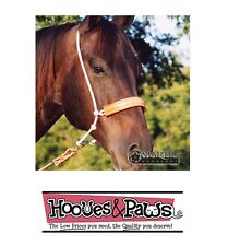 Headset Tiedown Leather Noseband Rope Head Setter Horse Tack Martin Saddlery USA