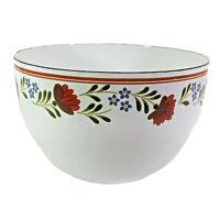 """Vintage Kobe Kitchen Japan Enameled Steel Bowl Floral Design 8.25"""" Across x 5.5"""""""