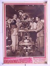 CALIFORNIA EXPRESS di Mervyn le Roy fotobusta originale 1946
