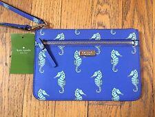 KATE SPADE Liberty Street Under The Sea Blue Seahorse Wristlet Bag Clutch NWT