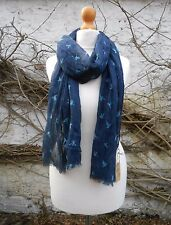 BNWT FAT FACE NAVY WITH BIRDS PRINT LADIES SCARF