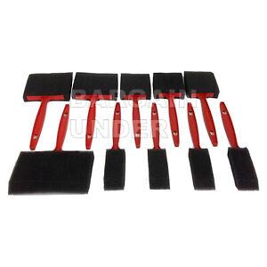 "10 Pc Foam Sponge Paint Brushes 4"" 3"" 2"" 1"" Assorted Pack Oil Stain Polyurethane"