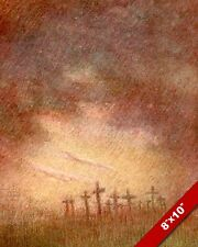 SHALL NOT GROW UP FLANDERS FIELDS WWI WORLD WAR 1 ART PAINTING REAL CANVAS PRINT
