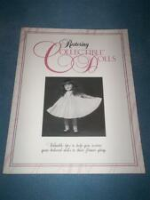 Restoring Collectible Dolls Booklet-House of White Birches-Circa 1993-w/Pattern