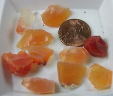 57.75ct Mexico 100% Natural Rough Raw Uncut Fire Opal Crystal Specimen 11.55g