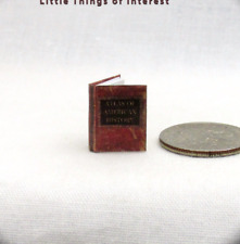 "1:24 Scale ATLAS OF AMERICAN HISTORY Miniature Book Dollhouse 1/2"" Scale Maps"