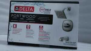 Delta Portwood Single-Handle 5-Spray Tub &Shower Faucet in Brushed Nickel