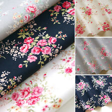 Vintage - Floral Fabric Rose Flower Craft Quilting 100% Cotton Material 45""