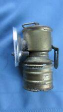 New listing Brass Premier Underground Miners Carbide Cap Lamp-British Made-Spade Mount